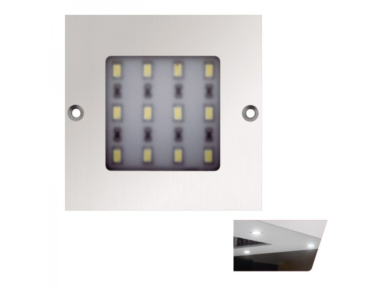 FOCO LED SUPERFICIE ALUMINIO 5W 80X80X4 L160.80